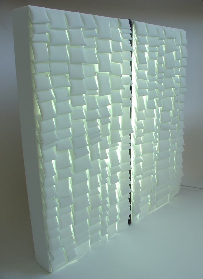 réflecteur blanc plissé