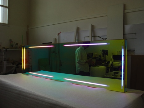 Atelier, miroir radiant lumineux, 2007.