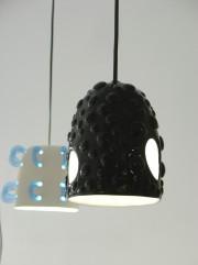 ABYSSE, Suspensions céramiques émaillées, 2009.